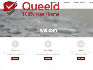 Download deze gratis WordPress theme - Queeld