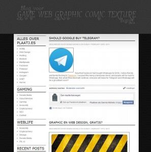 Gratis WordPress theme - Black Bingo Squadron - The Frontpage